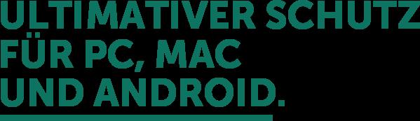 Ultimativer Schutz für PC, Mac und Android