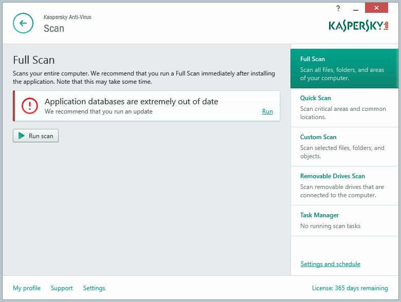 Kaspersky Anti-Virus 2015 delives essential, real-time protection from malware