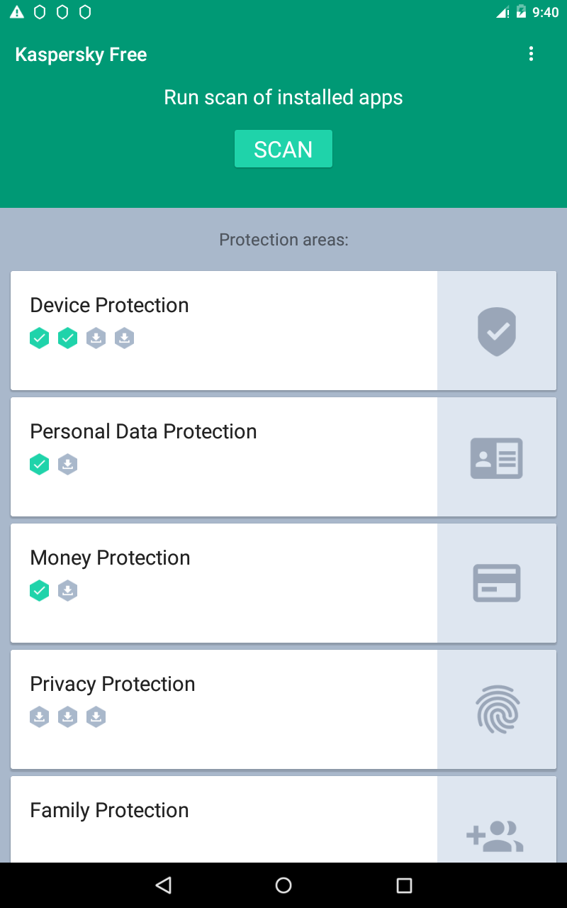Kaspersky Free for Android Screenshot