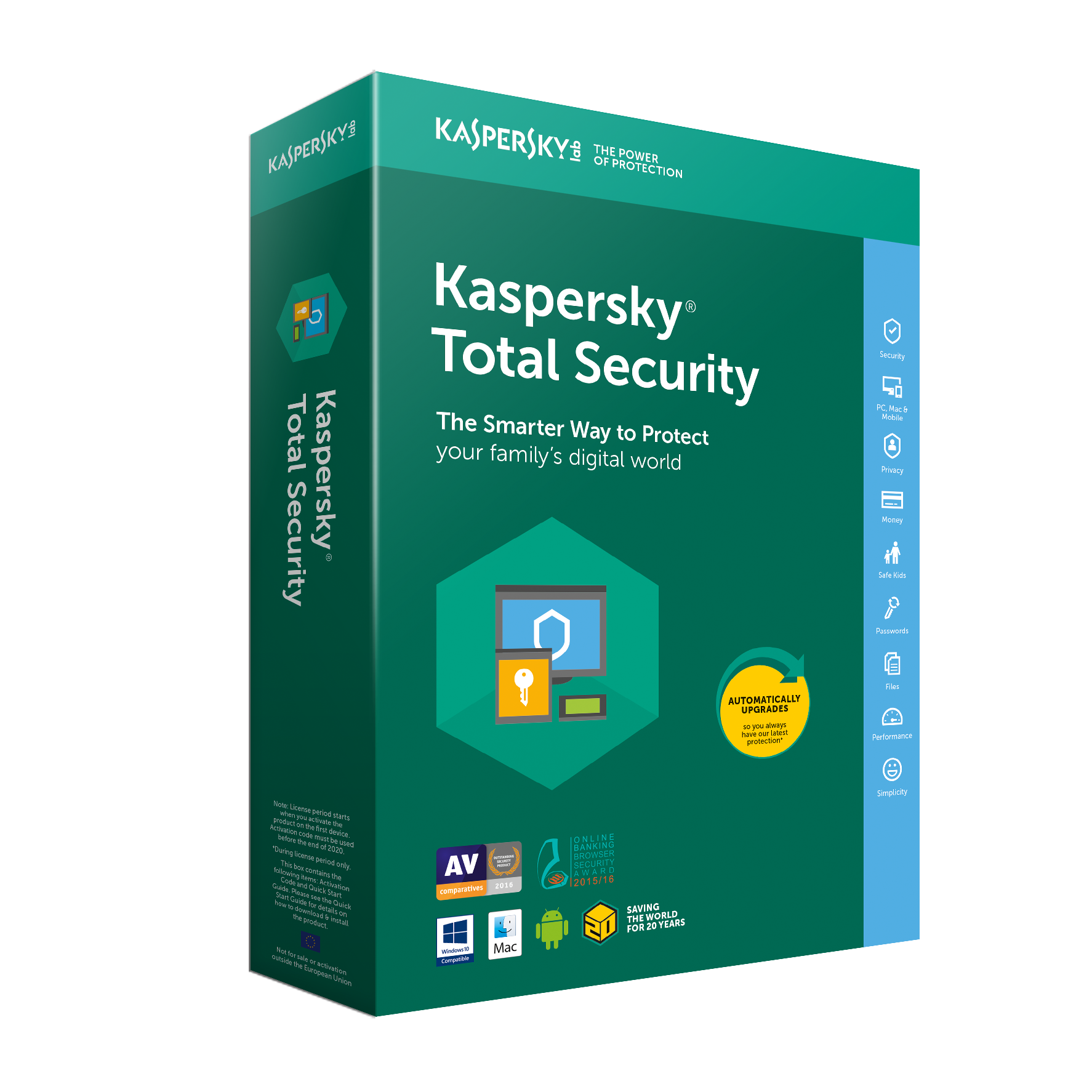 Globalstore Kaspersky™ Total Security 2019 - 3 Devices / 1 Year